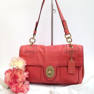 COACH Peyton  Leather Flap Satchel - Style 14524